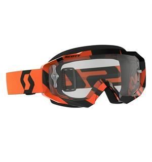 Scott Hustle MX Brille - Sort/Oransje Klar Works Linse
