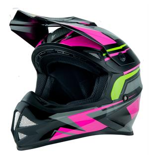 360 MX23 Crosshjelm - Rosa/Lime