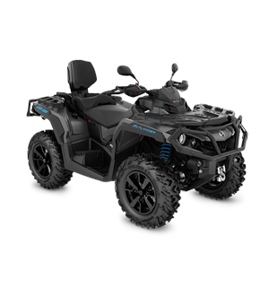 Can-Am Outlander MAX 650 XT T 2020 Mineral Grey & Octane Blue, ABS 105km/t