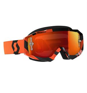 Scott Hustle MX Brille - Sort/Oransje Oransje Krom Works Linse